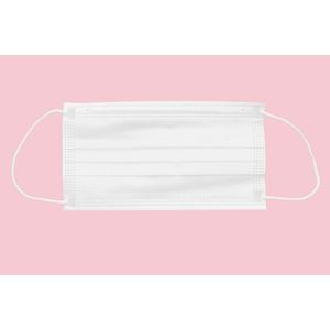 Chirurgická ústenka  STANDARD s gumičkami – bílá; 100 ks / bal